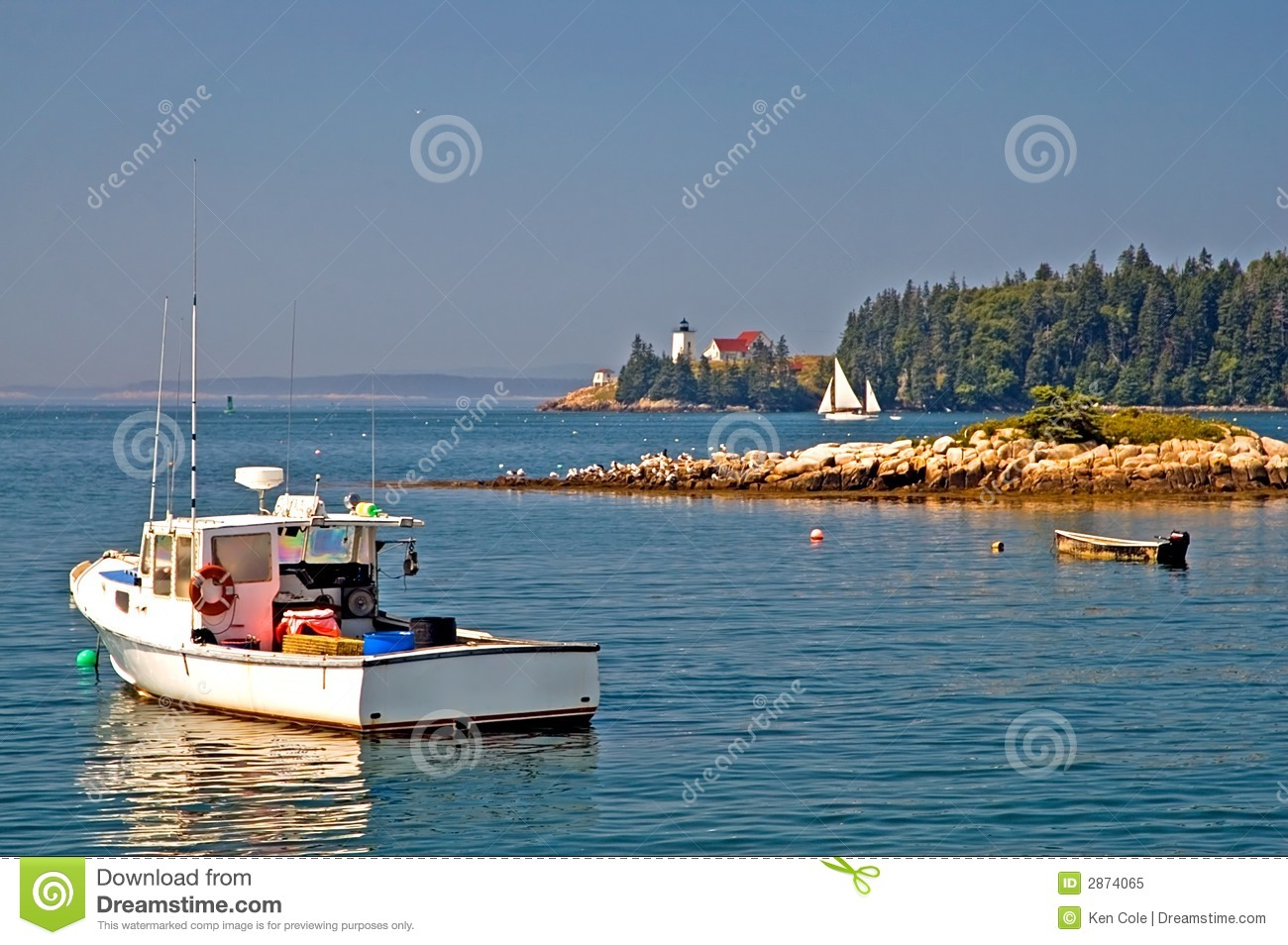 Maine scenic coastline stock image. Image of coast, quietness - 2874065