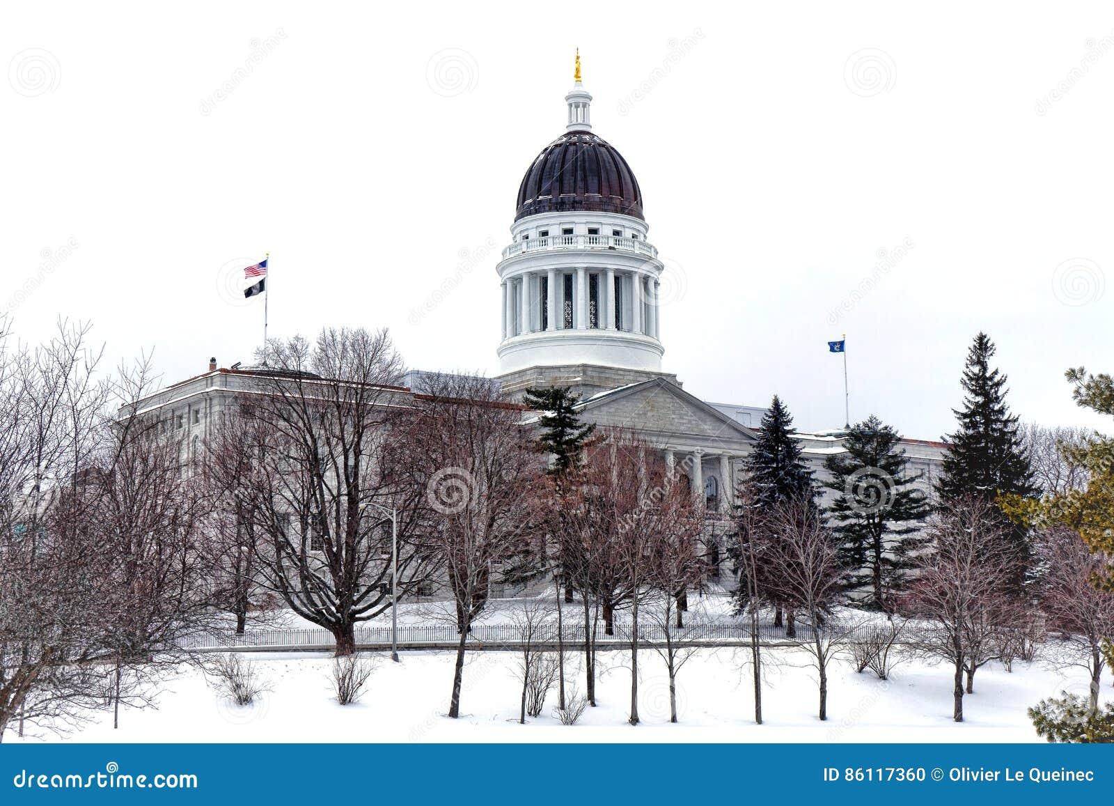 Maine State Capitol nell inverno