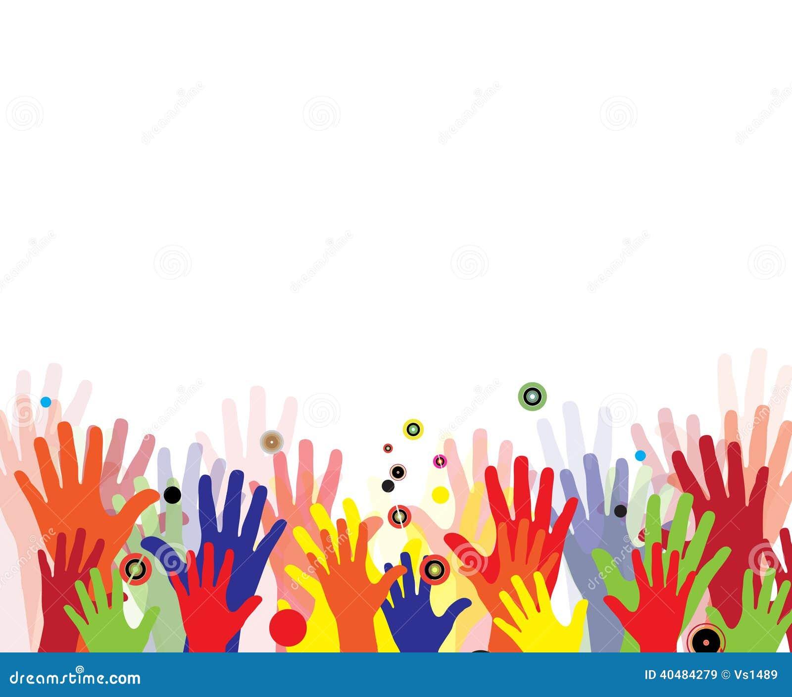 Mains abstraites d 39 enfants en peinture color e illustration de vecteur image 40484279 - Peinture main enfant ...