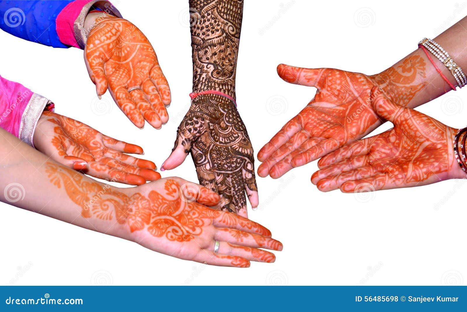 Mains avec la conception de Heena