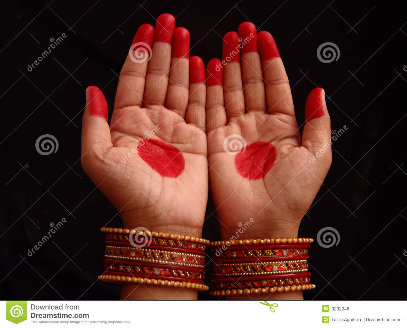 Mains avec le mehndi