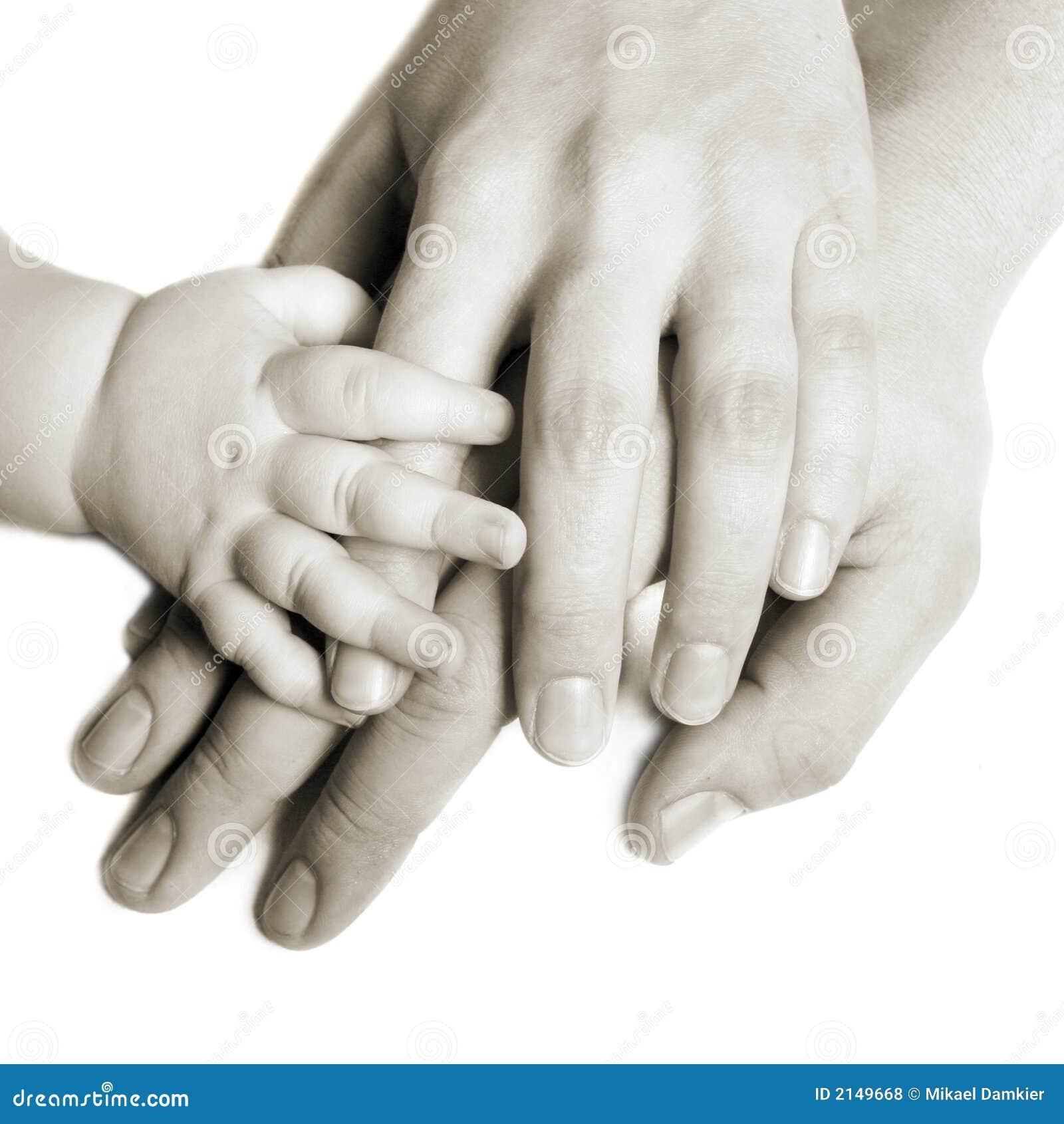 Mains d une famille