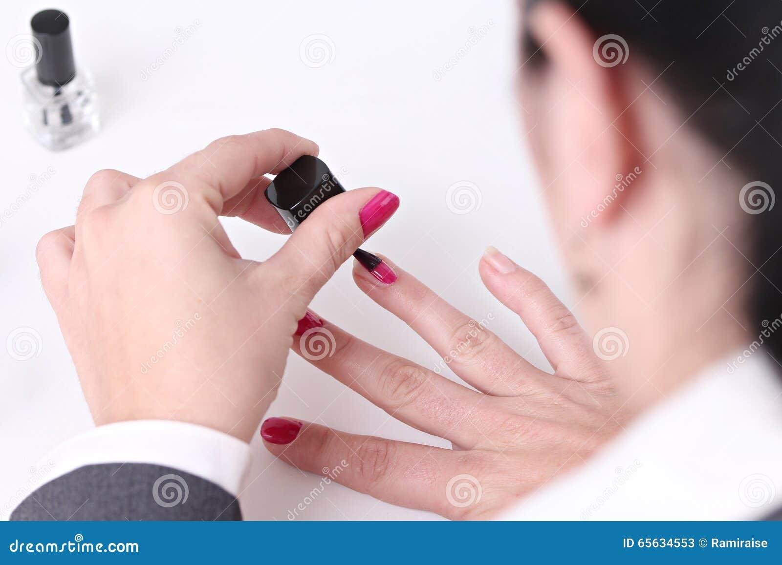 Mains d une femme d affaires