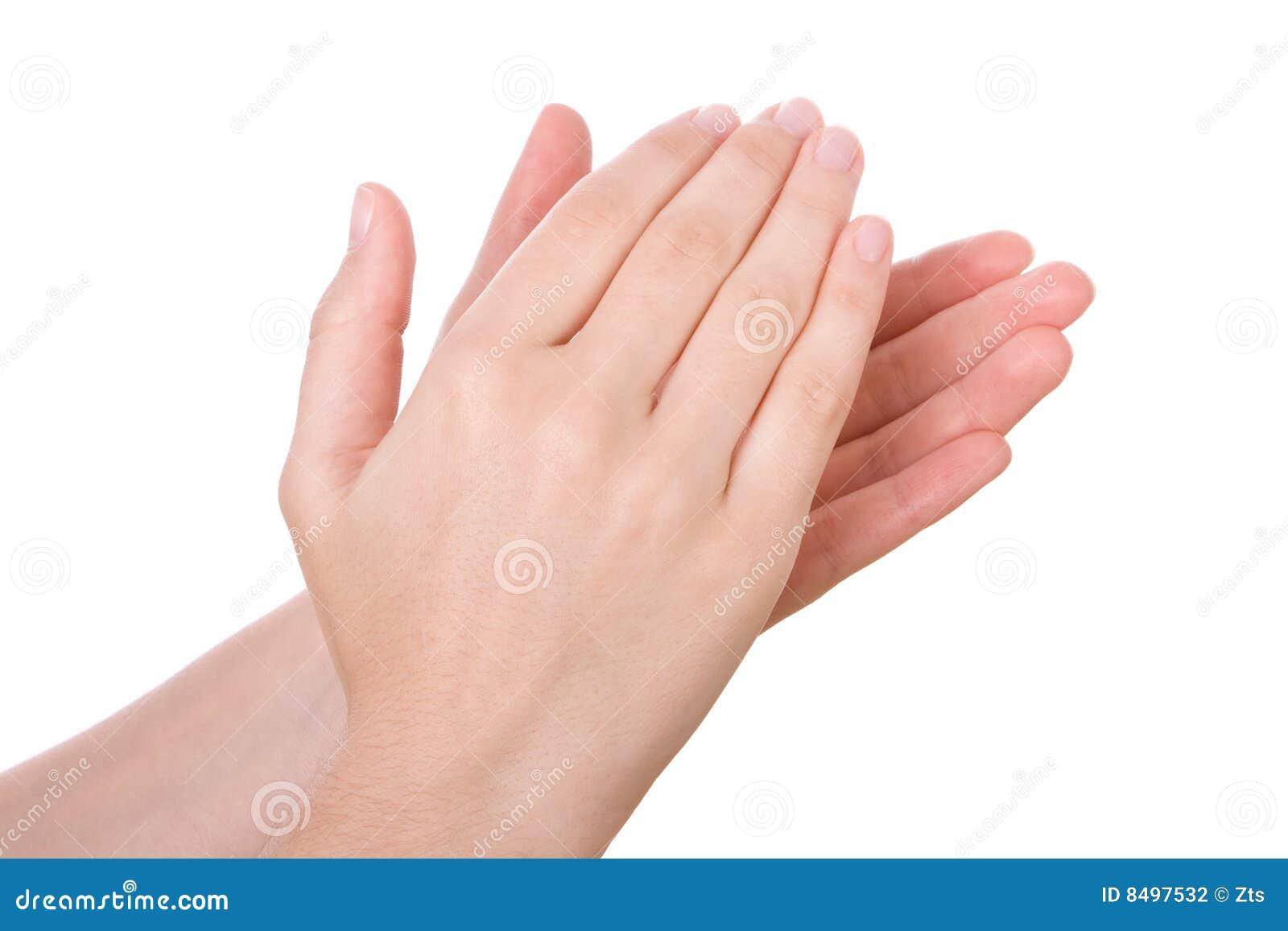 Mains de applaudissement de applaudissement photographie for Photographie de stock