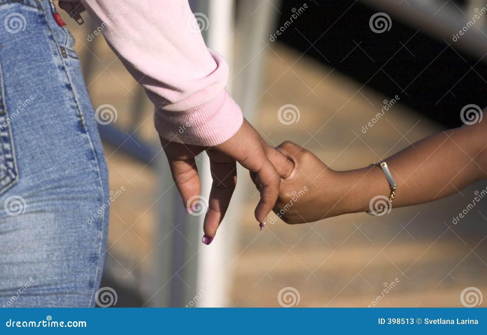 Mains de fixation (doigt réellement)