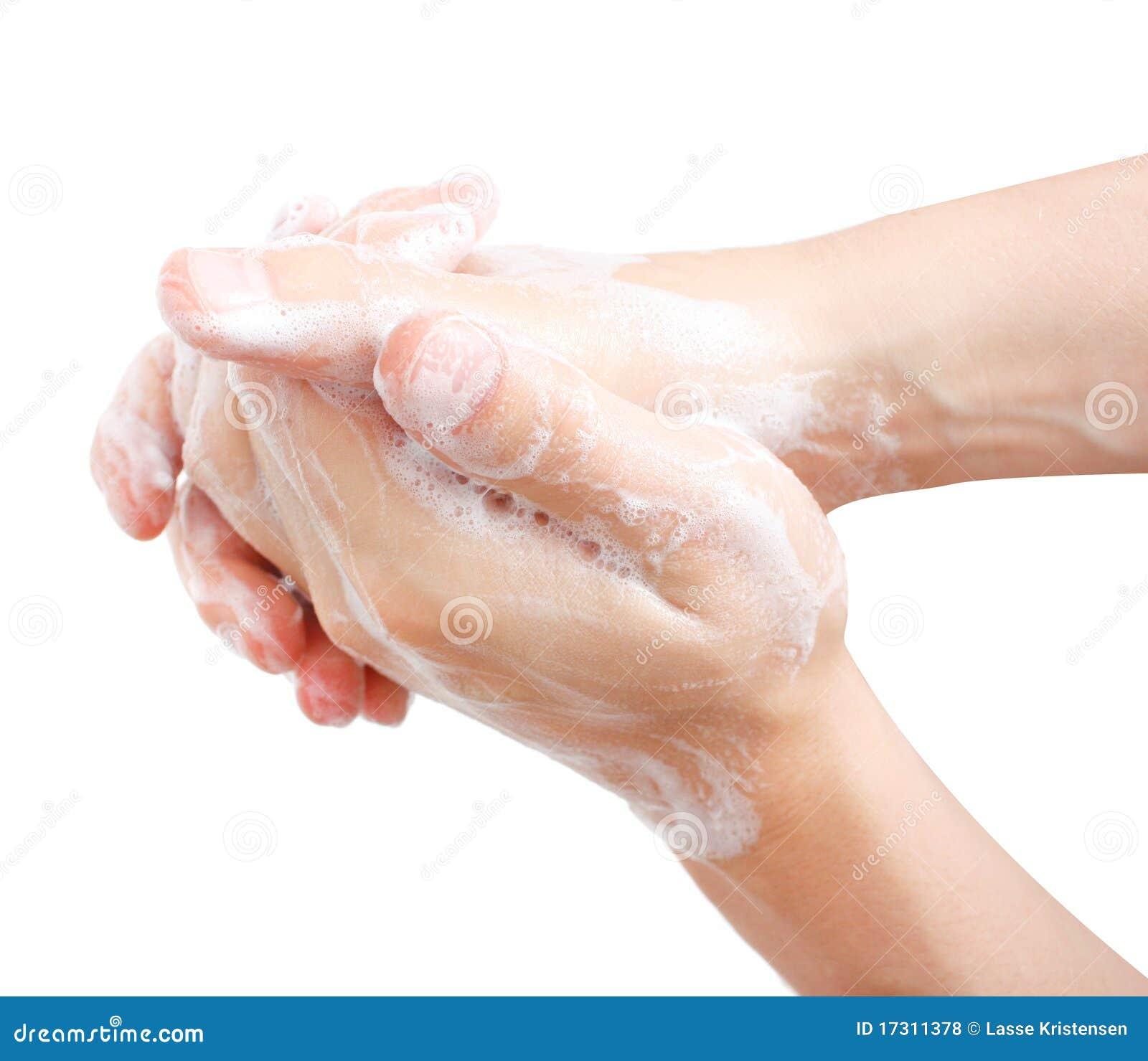 Mains de lavage