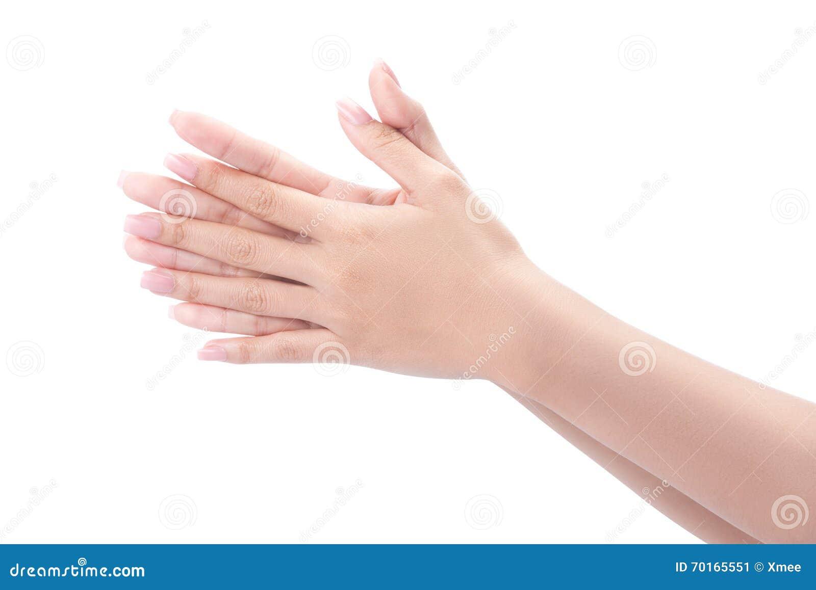 Mains de lavage de geste