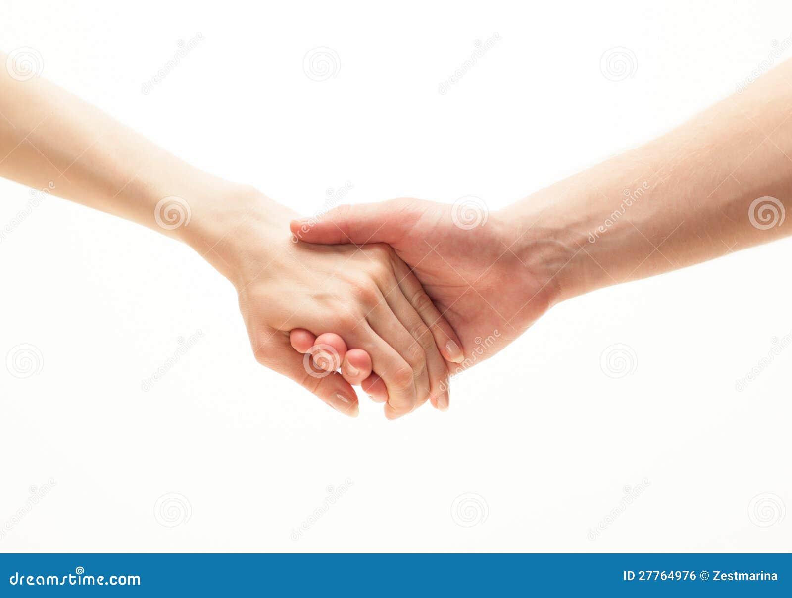Mains de lier de l homme et de femme
