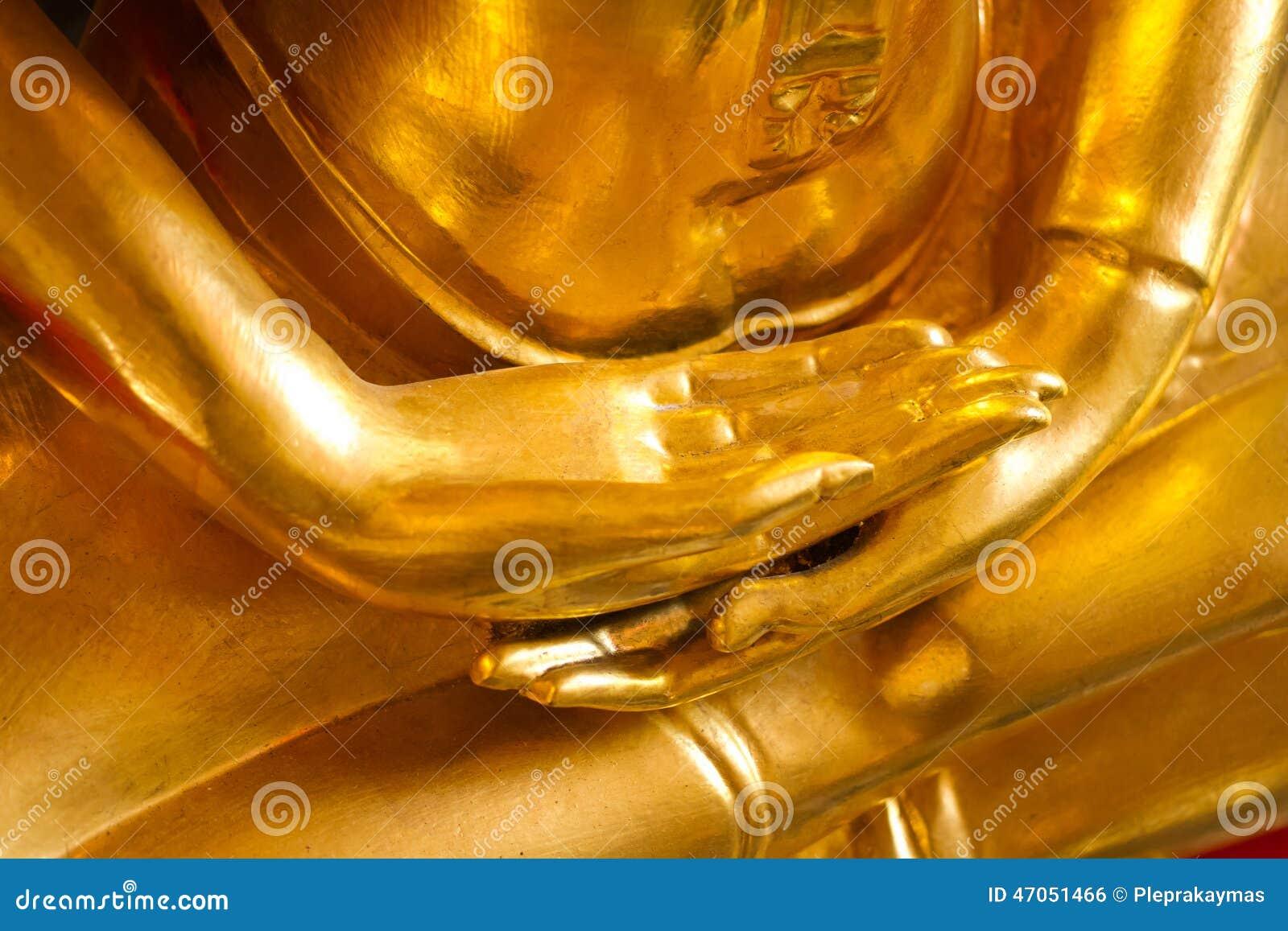 Mains de statue de Bouddha