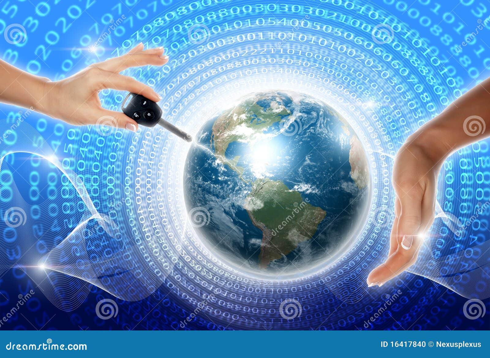 Mains, ligne, la terre de planète