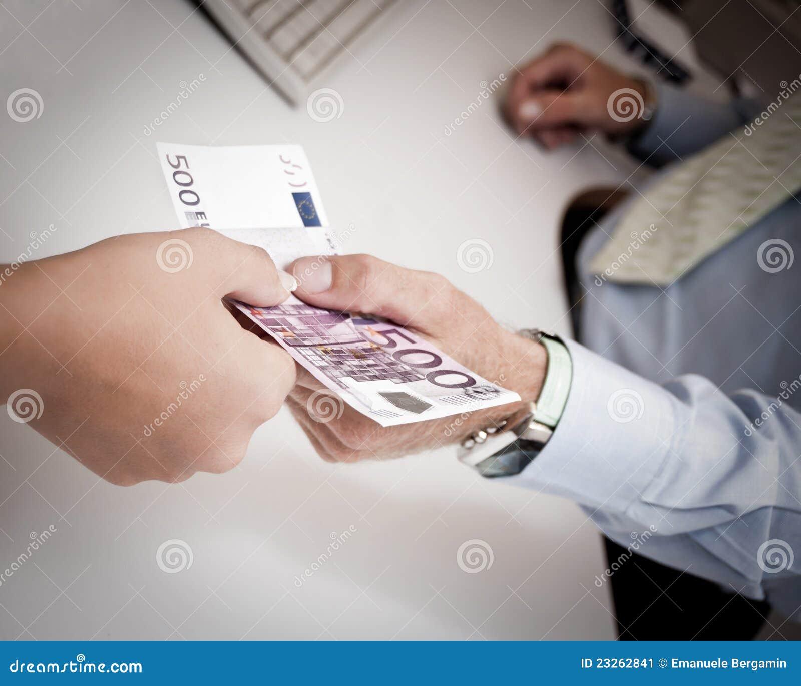 Mains passant l argent