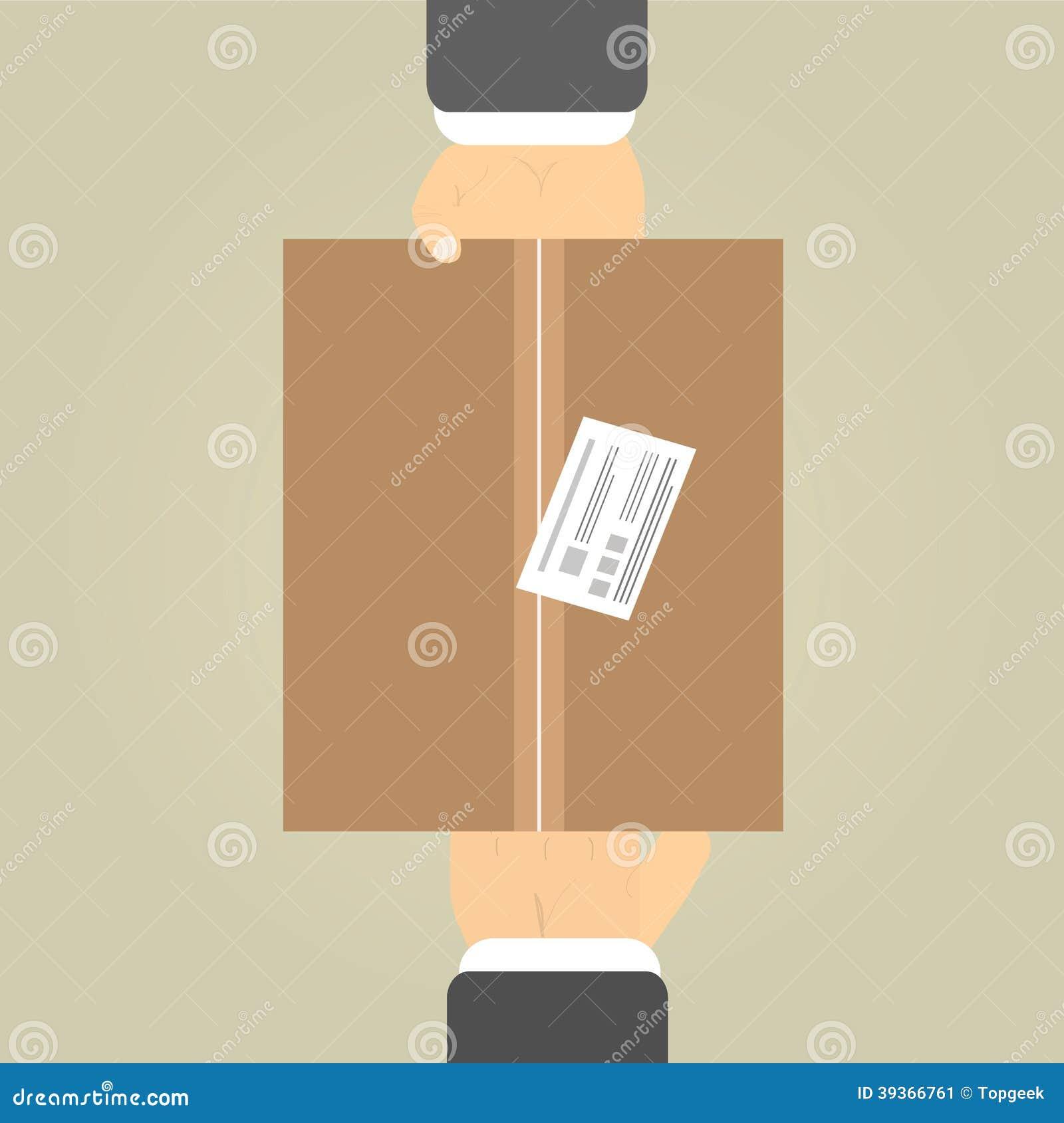 mains pour recevoir un colis illustration de vecteur image 39366761. Black Bedroom Furniture Sets. Home Design Ideas