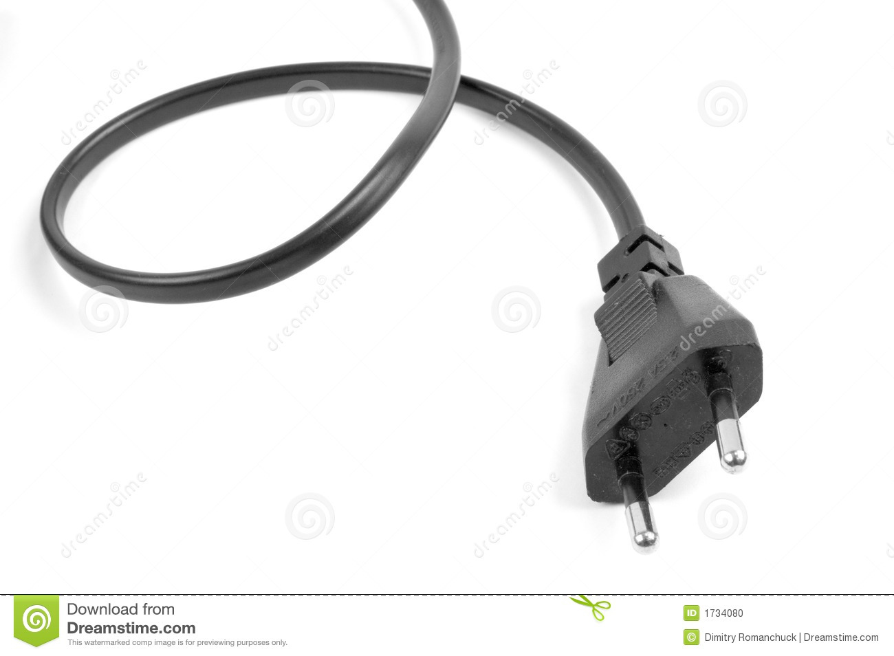 Animation Extension Lead : Mains power connector stock photo image