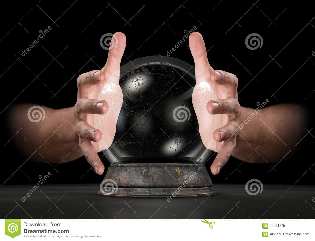 Mains sur Crystal Ball