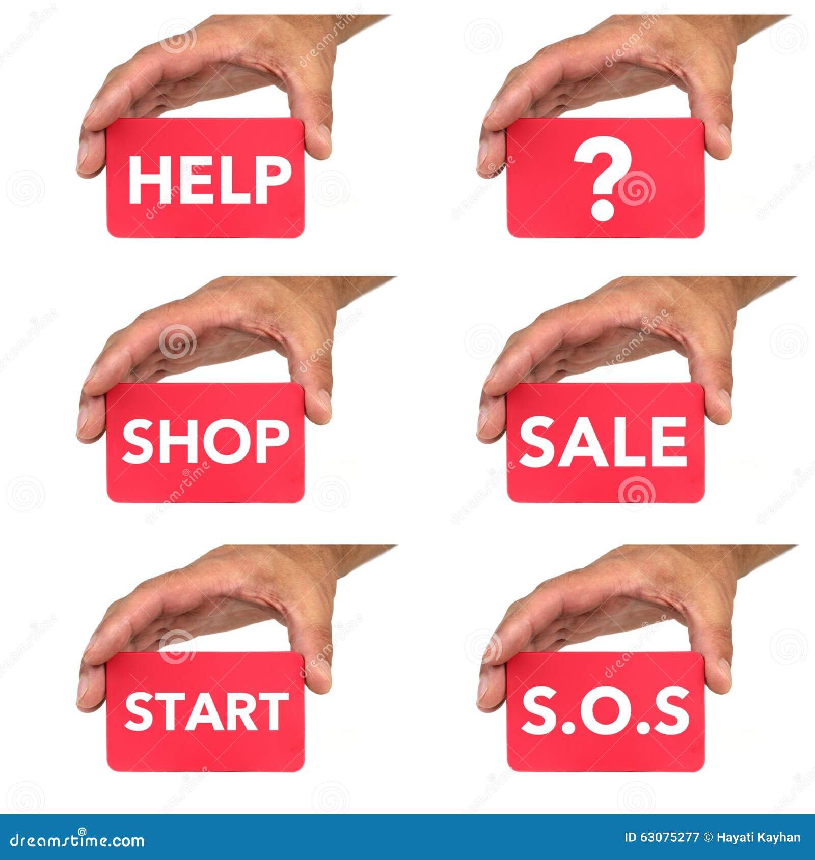 Download Mains Tenant Et Montrant Des Cartes Avec Des Message Textuels De Chlak Image stock - Image du vide, concepts: 63075277