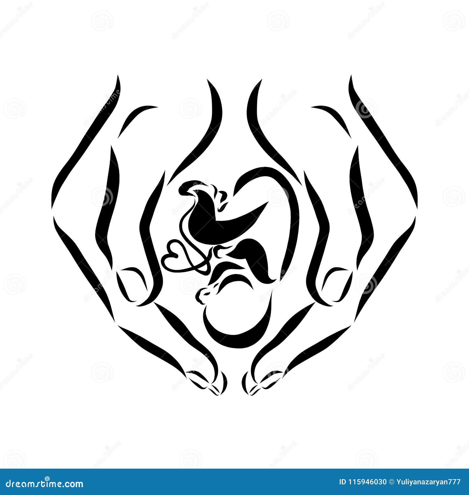 Mains tenant le bébé, avant ou après l accouchement