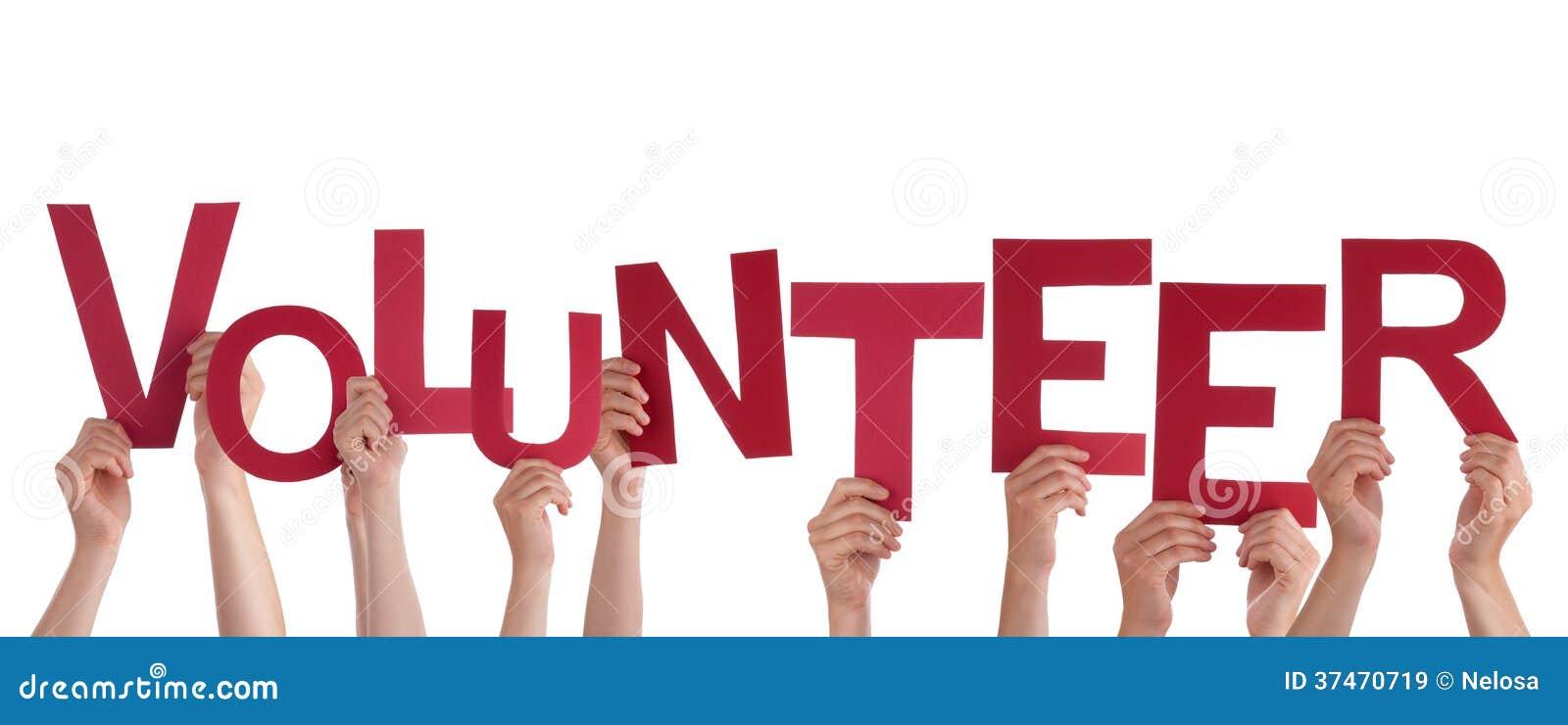 Mains tenant le volontaire
