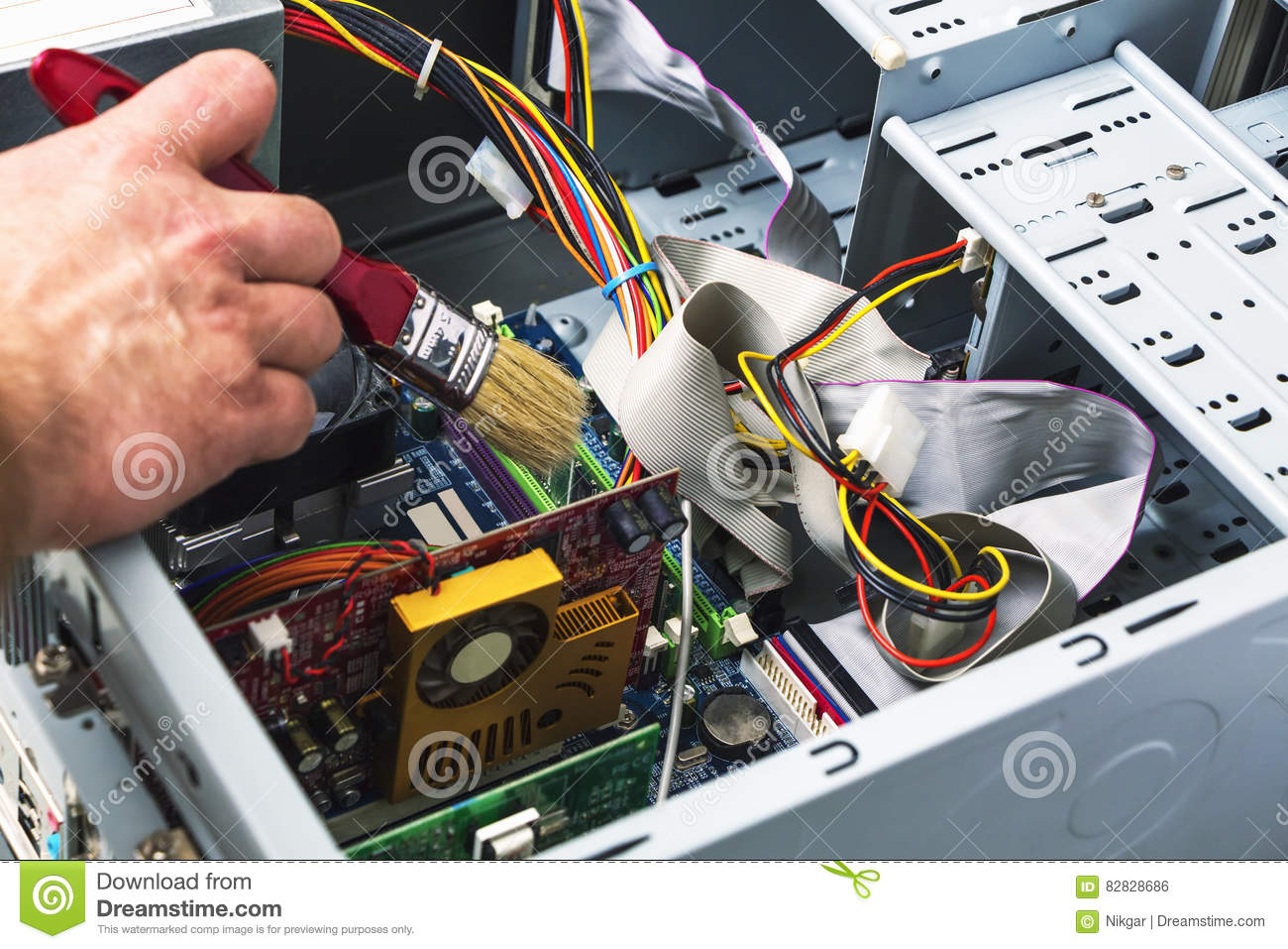 maintenance and cleaning of the system unit of a personal comput