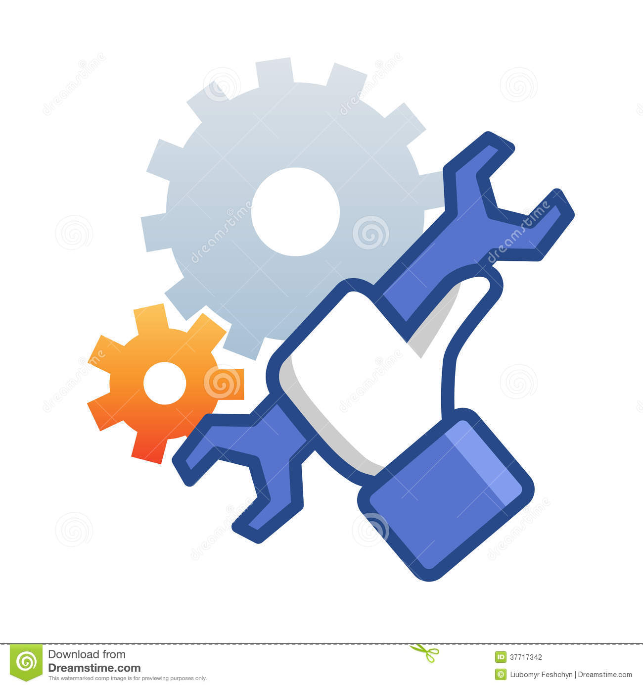 Maintenance Icon With Hand Wrench Stock Vector Illustration Of