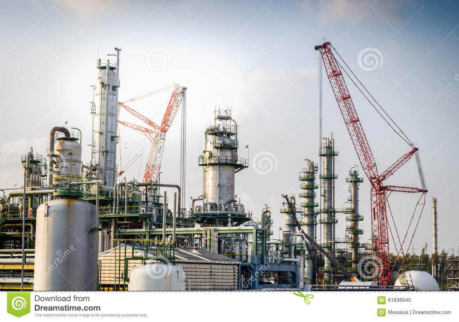 Maintenance Petrochemical Plant Stock Image - Image of