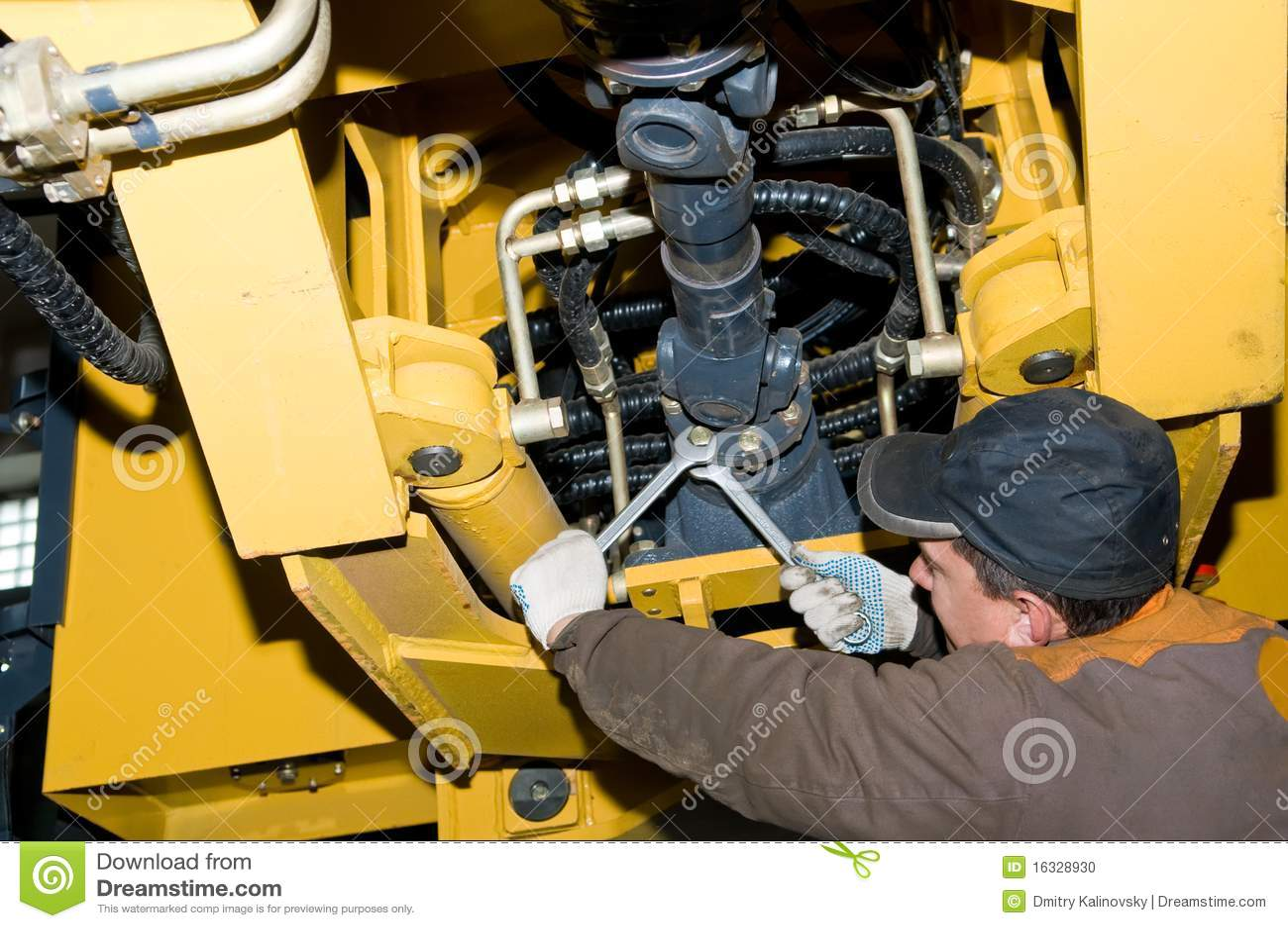 Heavy Equipment Maintenance : Heavy maintenance stock photo cartoondealer