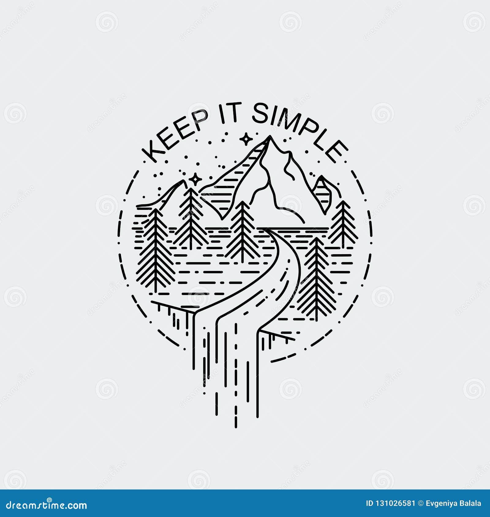 Maintenez Le Simple Montagnes De Nuit Avec La Cascade Affiche De