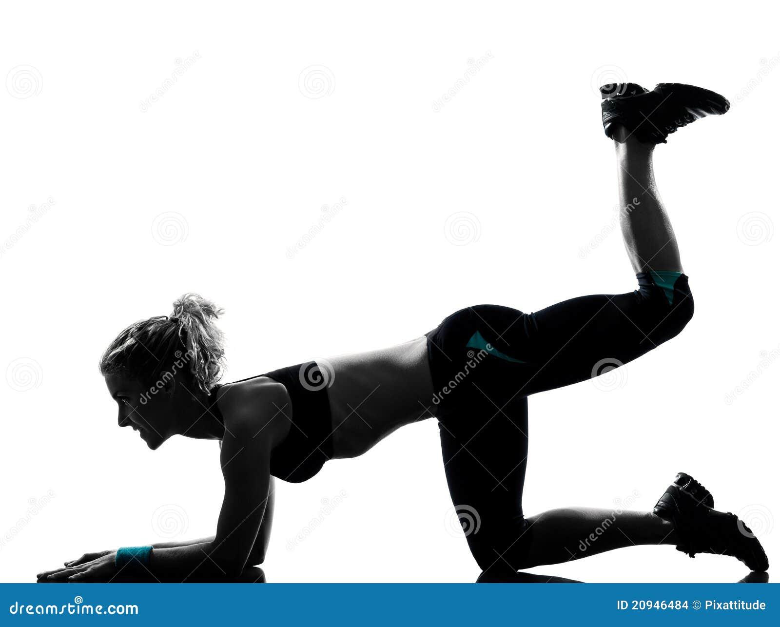 Maintien de forme physique de séance d entraînement de femme