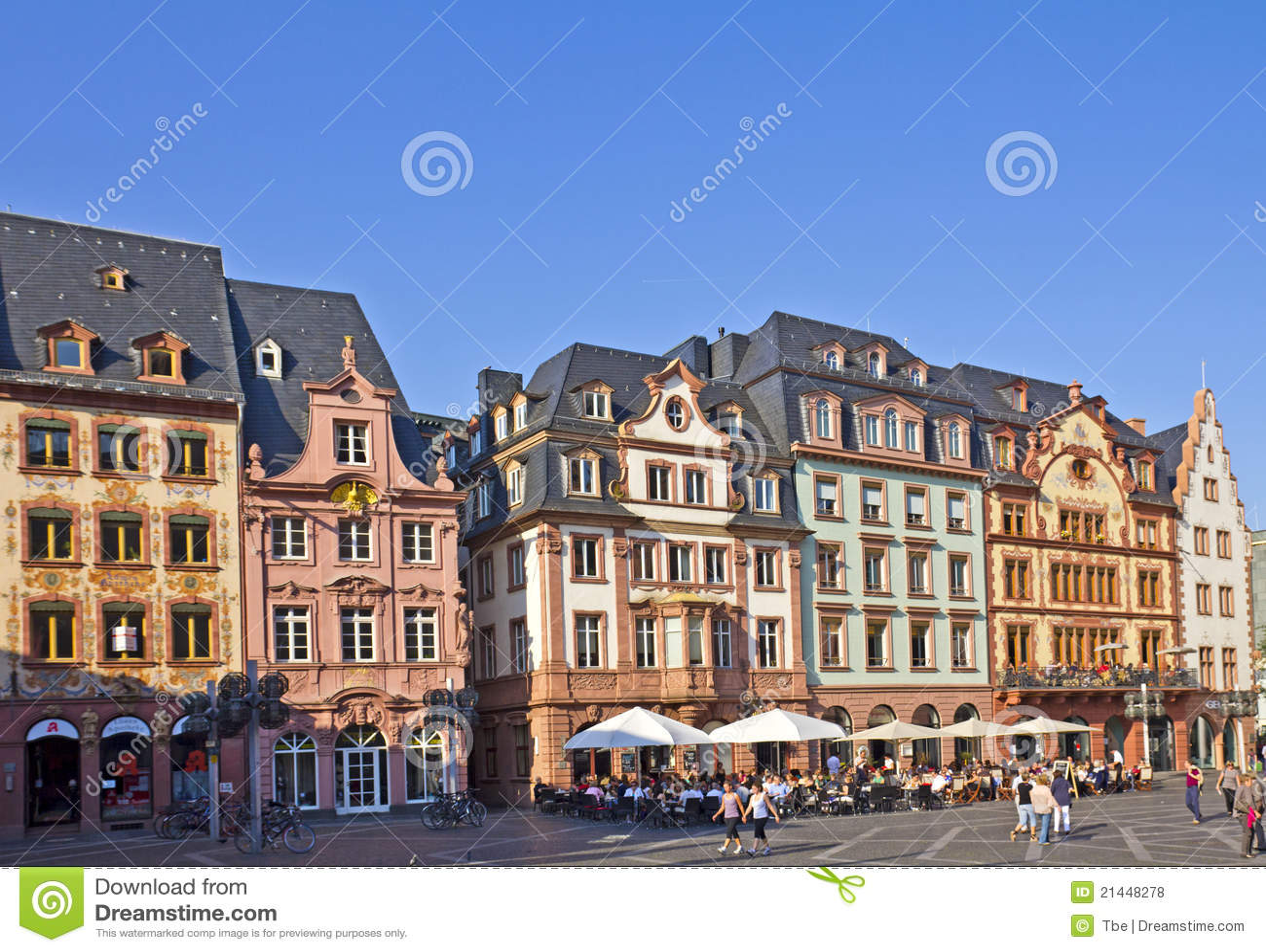 Mainz City Center Editorial Stock Photo Image 21448278