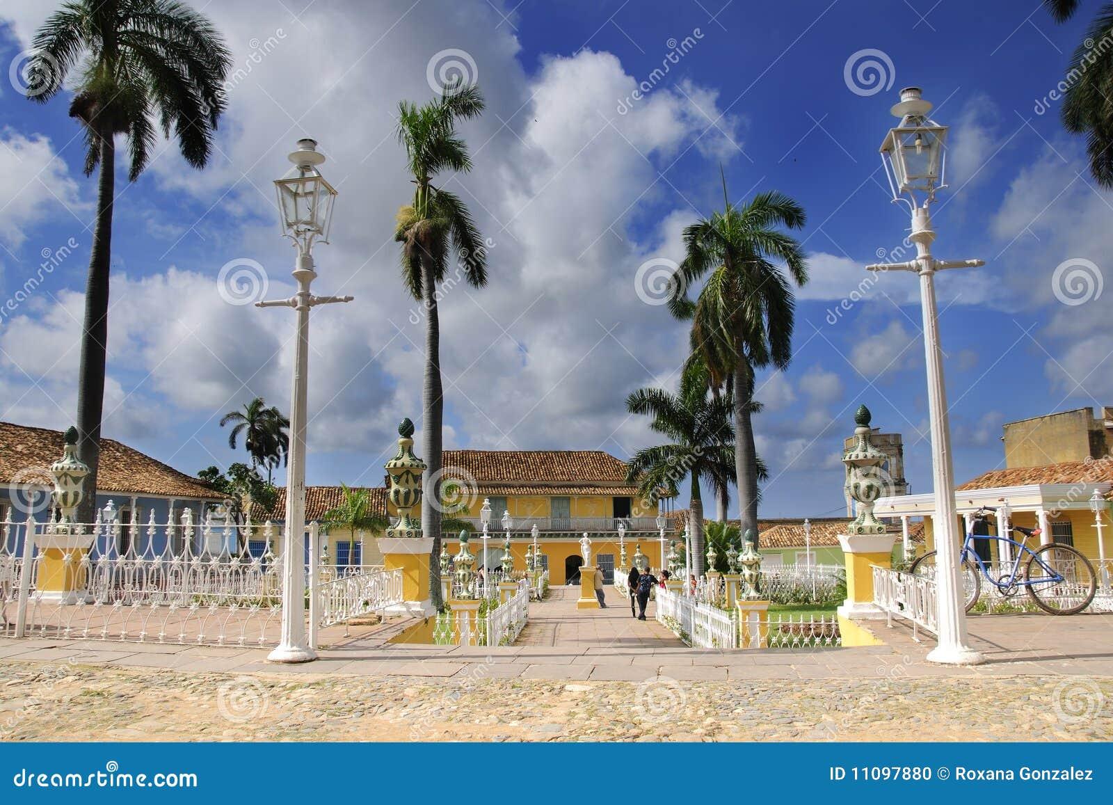 Maire de plaza dans la ville du Trinidad, Cuba