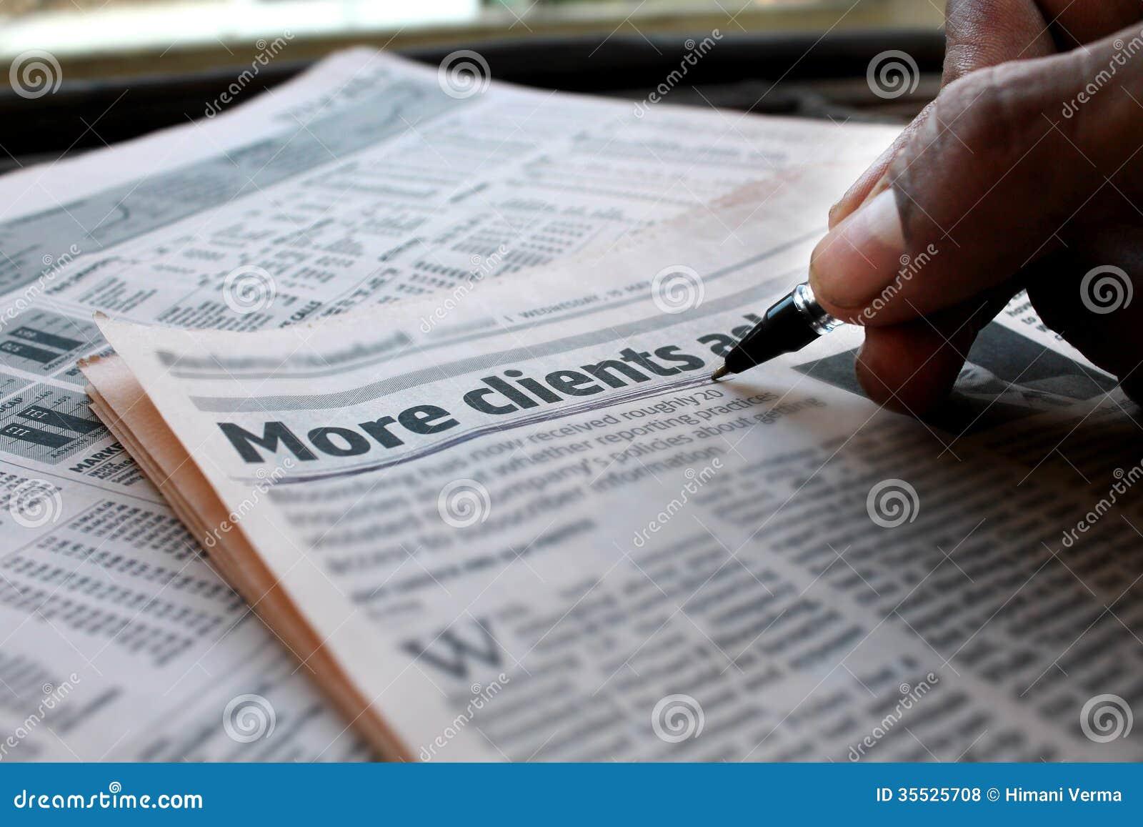 Mais jornal dos clientes