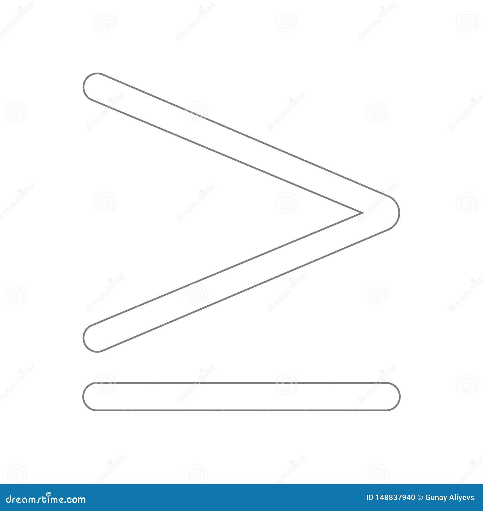 Mais ou ?cone igual do s?mbolo Elemento da Web para o conceito e o ?cone m?veis dos apps da Web Esbo?o, linha fina ?cone para o p