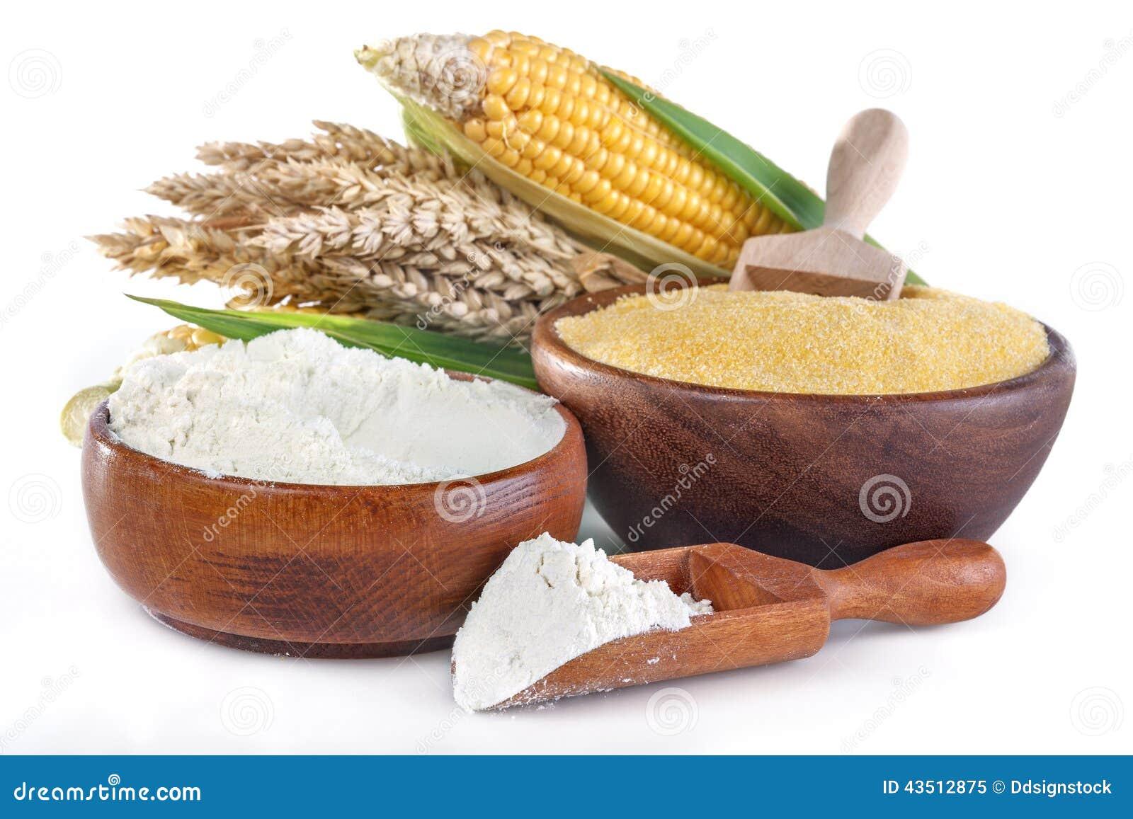 Mais und Weizen