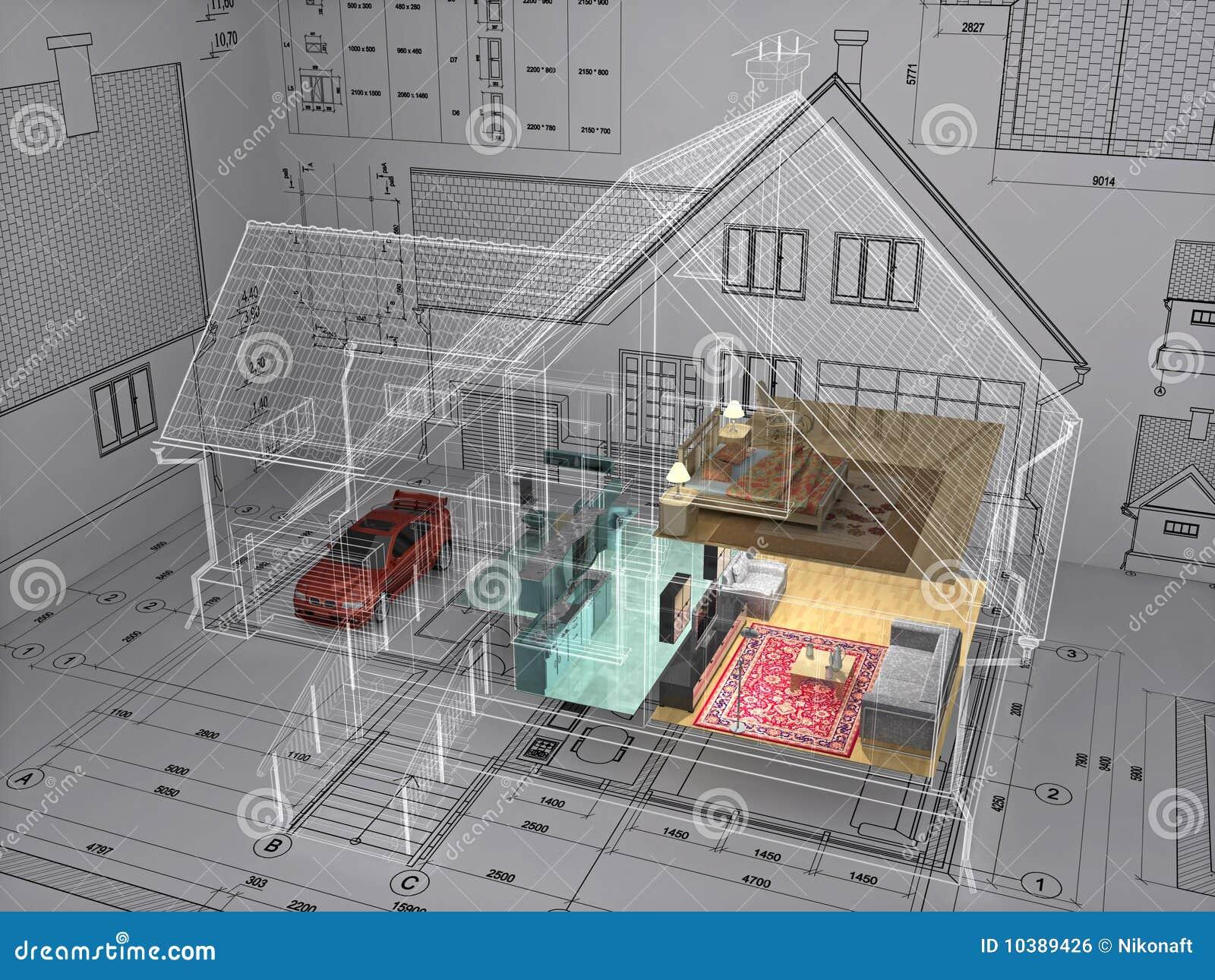 Maison illustration stock image du d cor vivre - Cree ma maison en 3d gratuitement ...