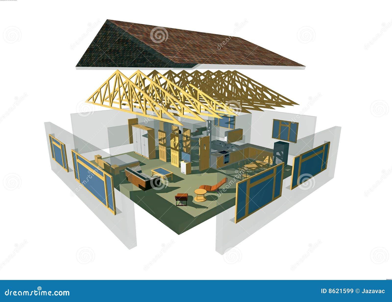 Maison 3d images libres de droits image 8621599 - Dessin 3d maison ...