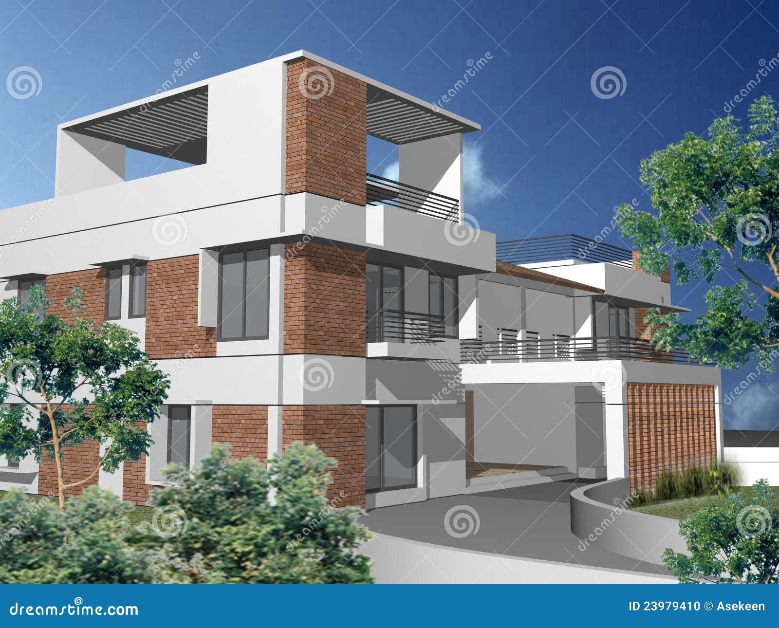 Maison duplex for Plan maison duplex moderne