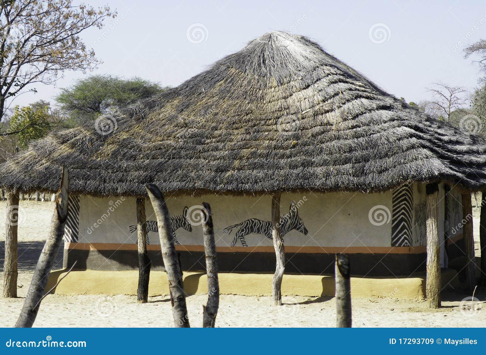 Maison africaine peinte image stock éditorial
