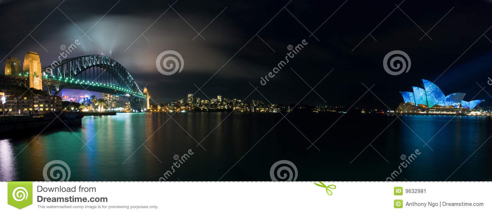 Maison allumant le panorama lumineux Sydney d opéra