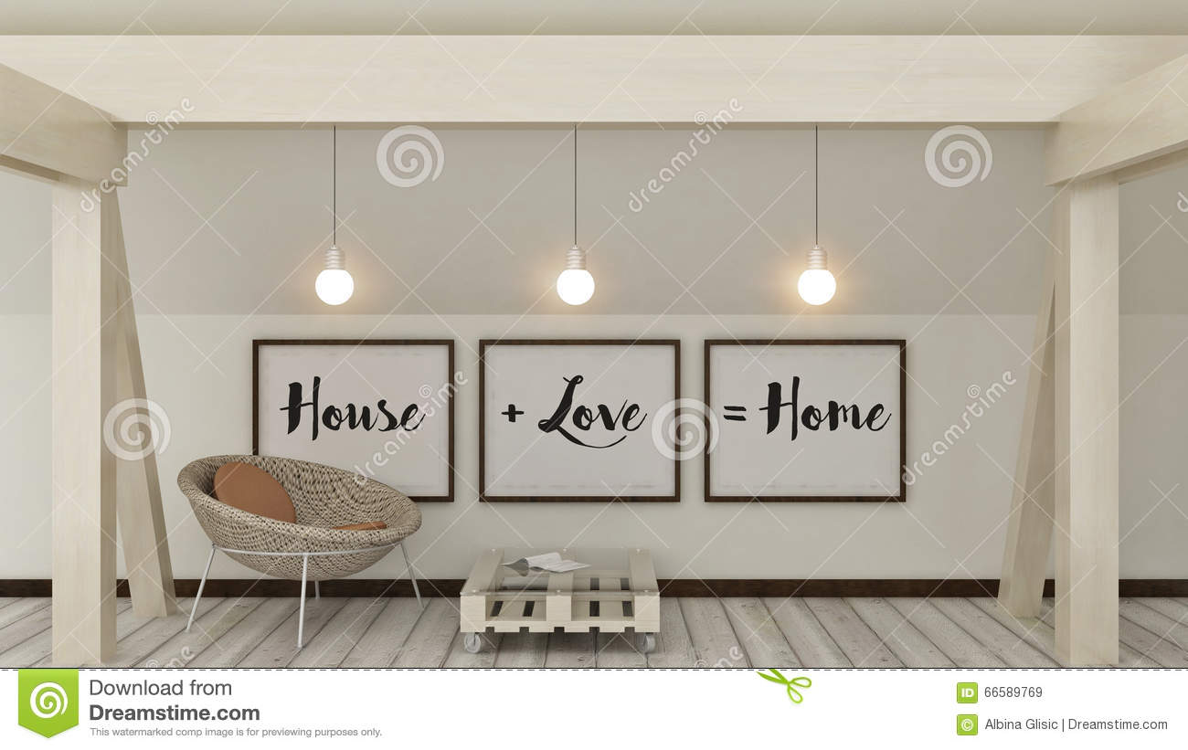 maison amour famille et concept de bonheur affiches dans la d coration int rieure de maison. Black Bedroom Furniture Sets. Home Design Ideas