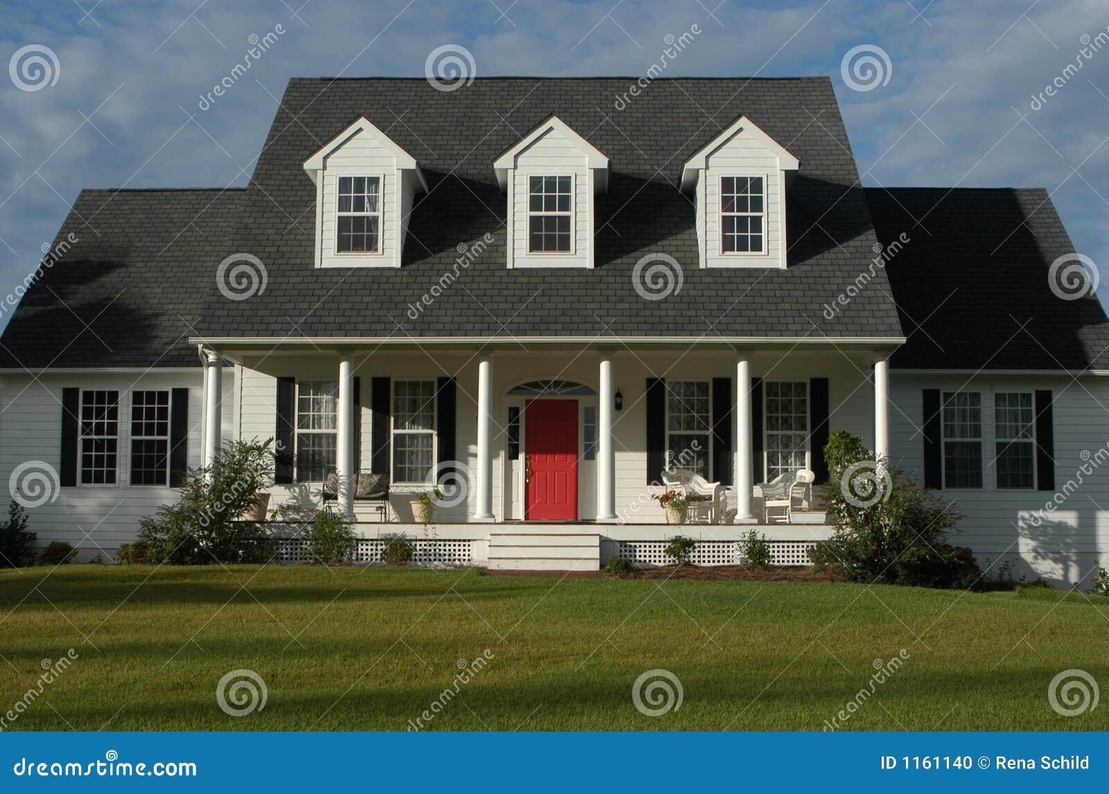 Maison am ricaine photo stock image 1161140 for Concepteurs de maison
