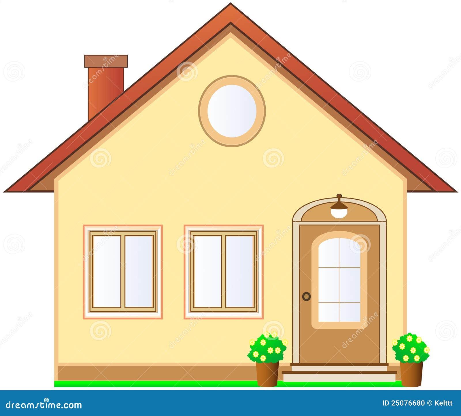 Maison avec le grenier sur le fond blanc illustration de for Agrandissement maison grenier