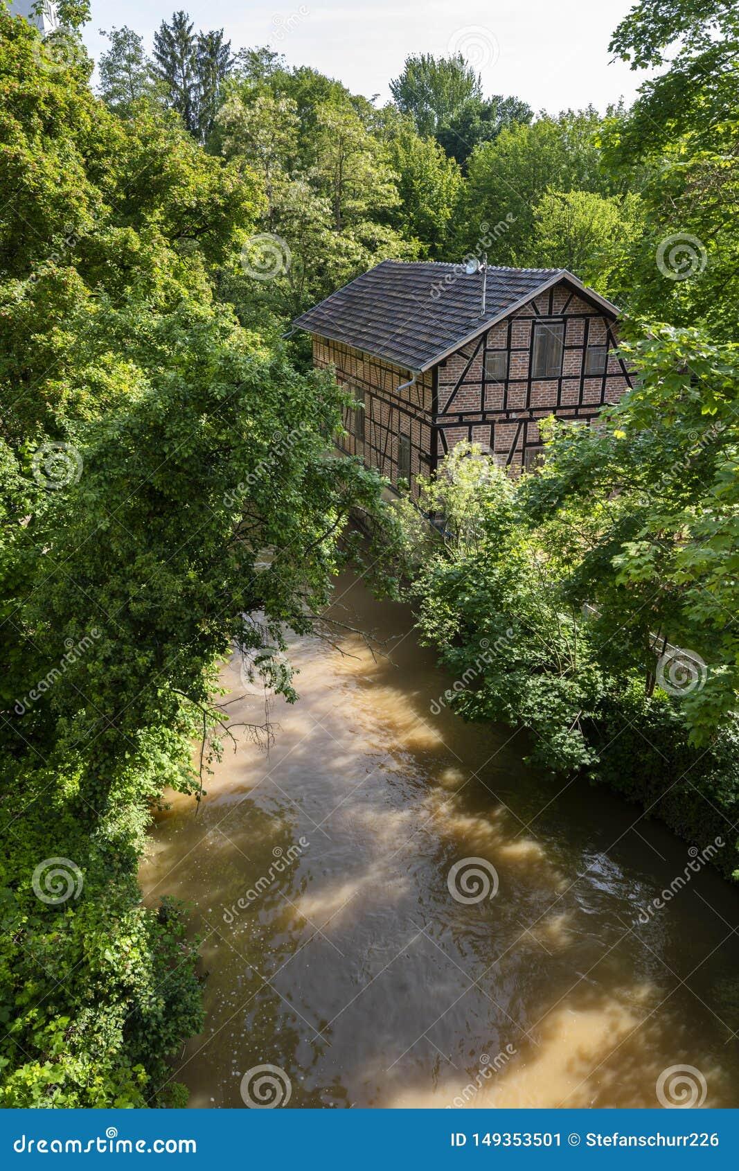 Maison bois?e dans Waiblingen, rems Murr Kreis, Allemagne