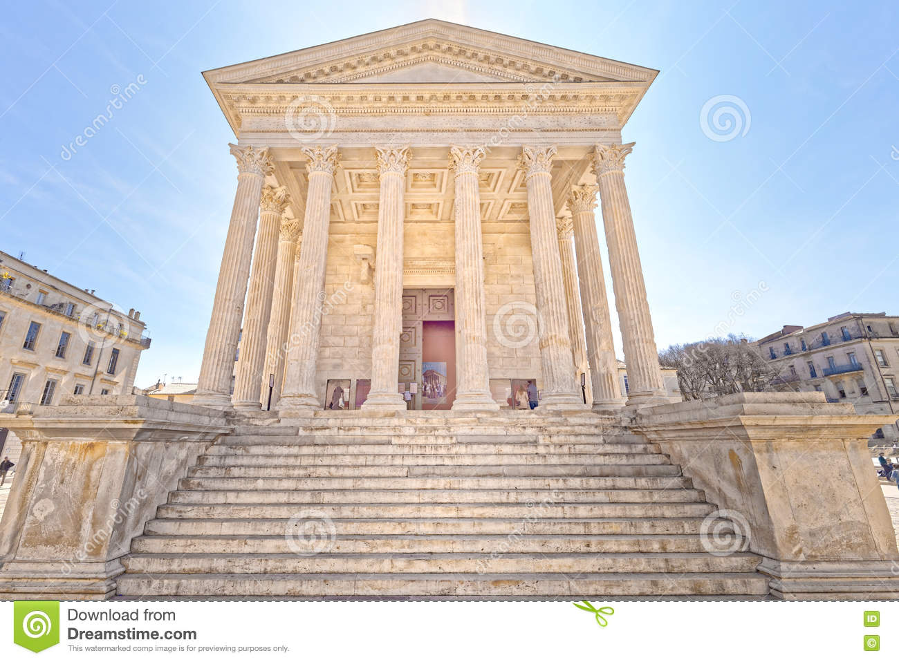 Maison carree nimes france editorial stock image image - Maison carree nimes ...