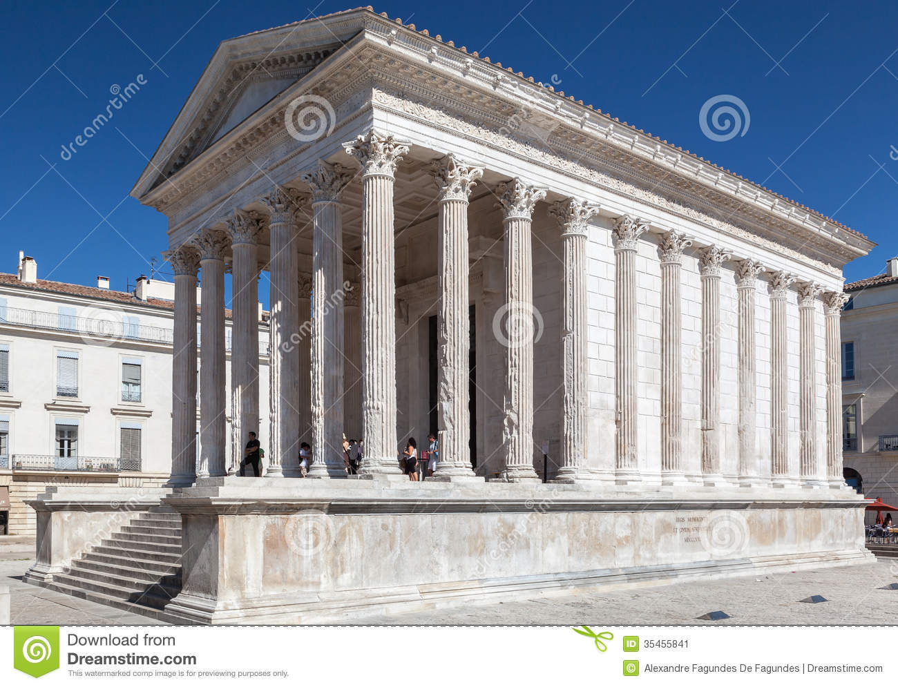 Maison carree nimes france editorial photo image of - Maison carree nimes ...