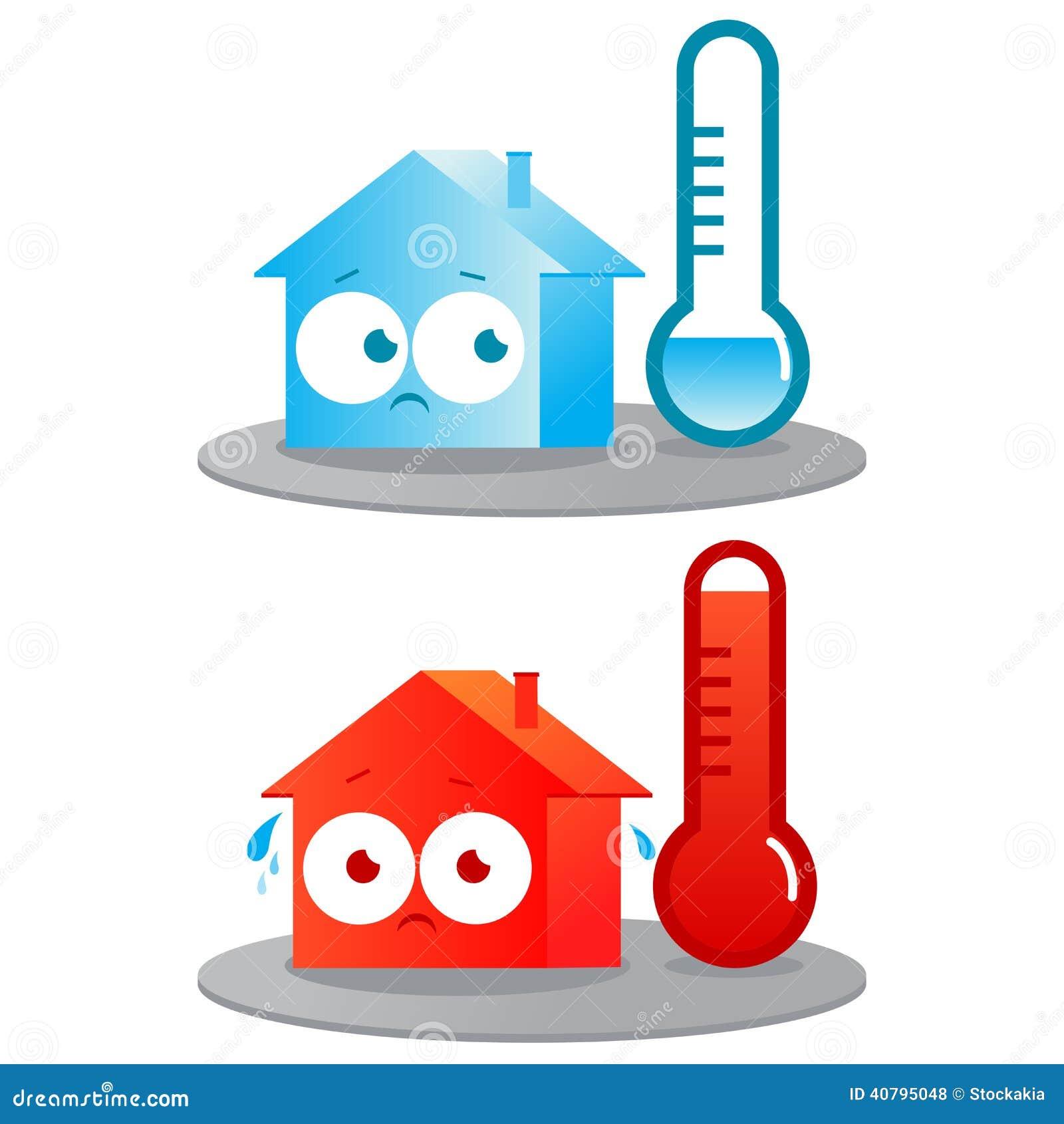 Maison chaude et froide illustration de vecteur image 40795048 - Omhullen een froid rouge ...