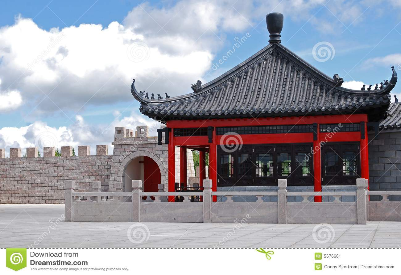 maison chinoise image stock image du architecture maison 5676661. Black Bedroom Furniture Sets. Home Design Ideas