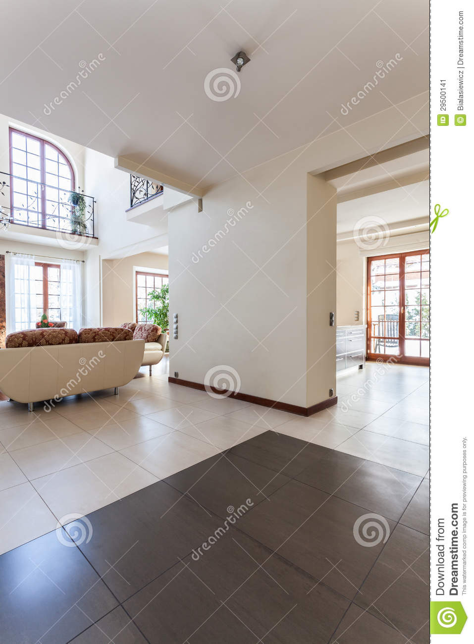 Maison chique int rieur image stock image 29500141 for Interieur maison neuve
