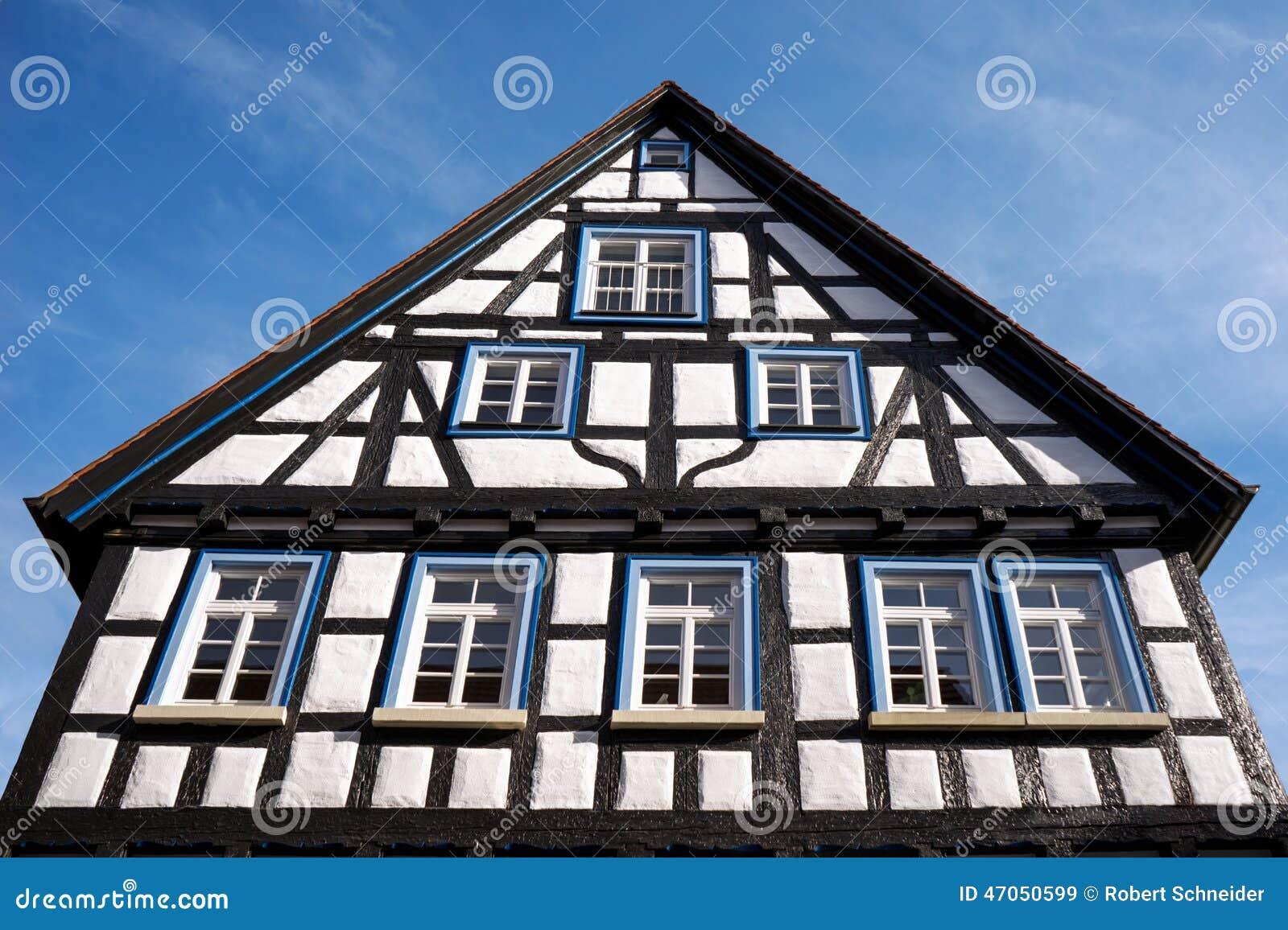 maison colombage photo stock image 47050599. Black Bedroom Furniture Sets. Home Design Ideas