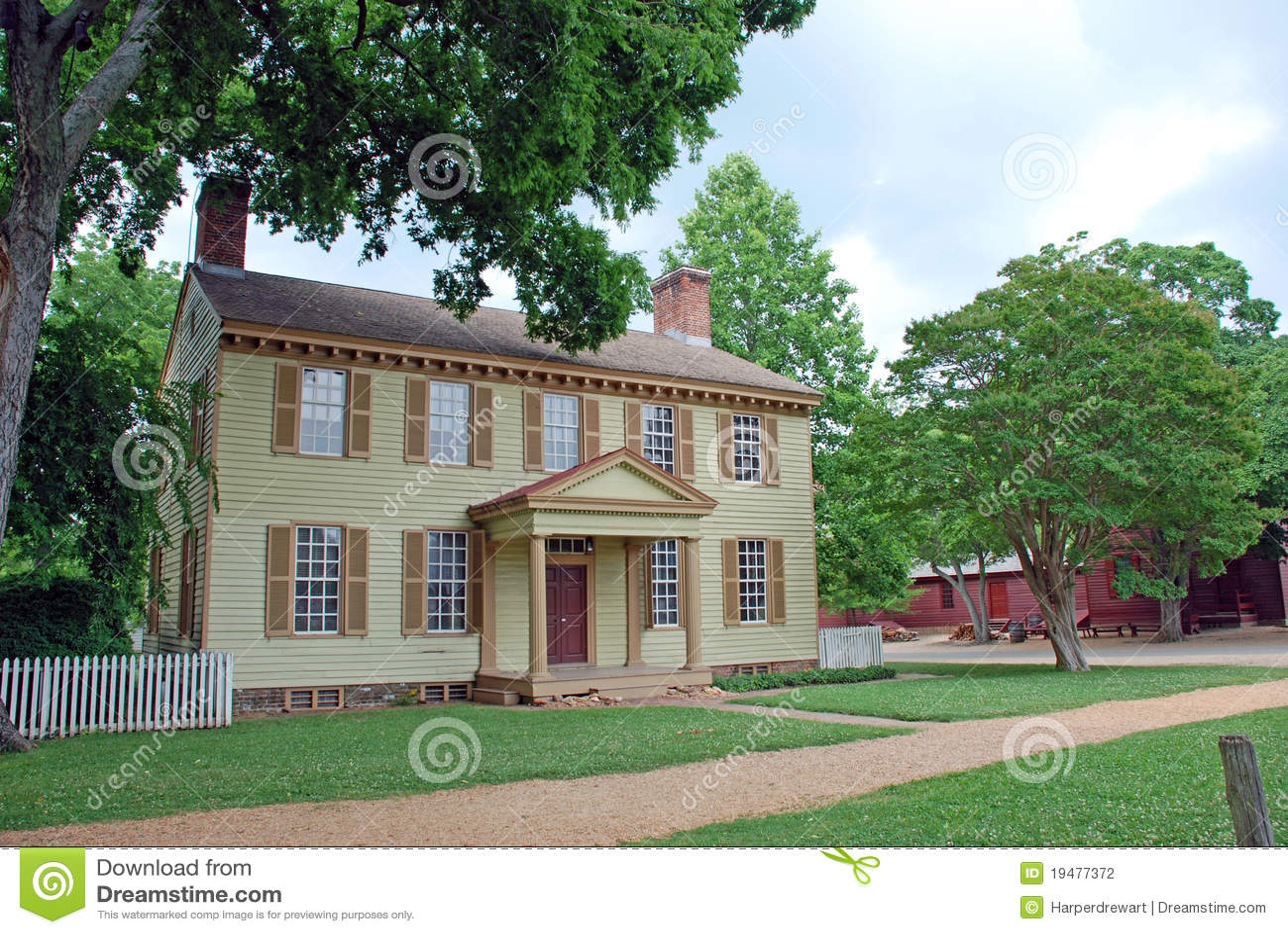 Maison Coloniale Photographie Stock Image 19477372