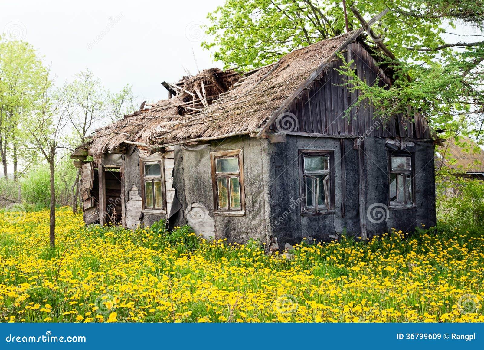 maison d labr e de cottage image stock image du affaiblissement 36799609. Black Bedroom Furniture Sets. Home Design Ideas