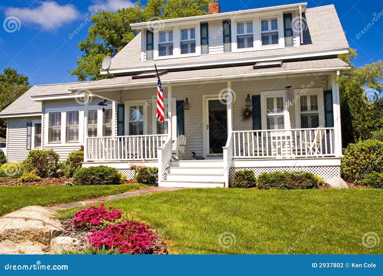 Maison d été avec le porche